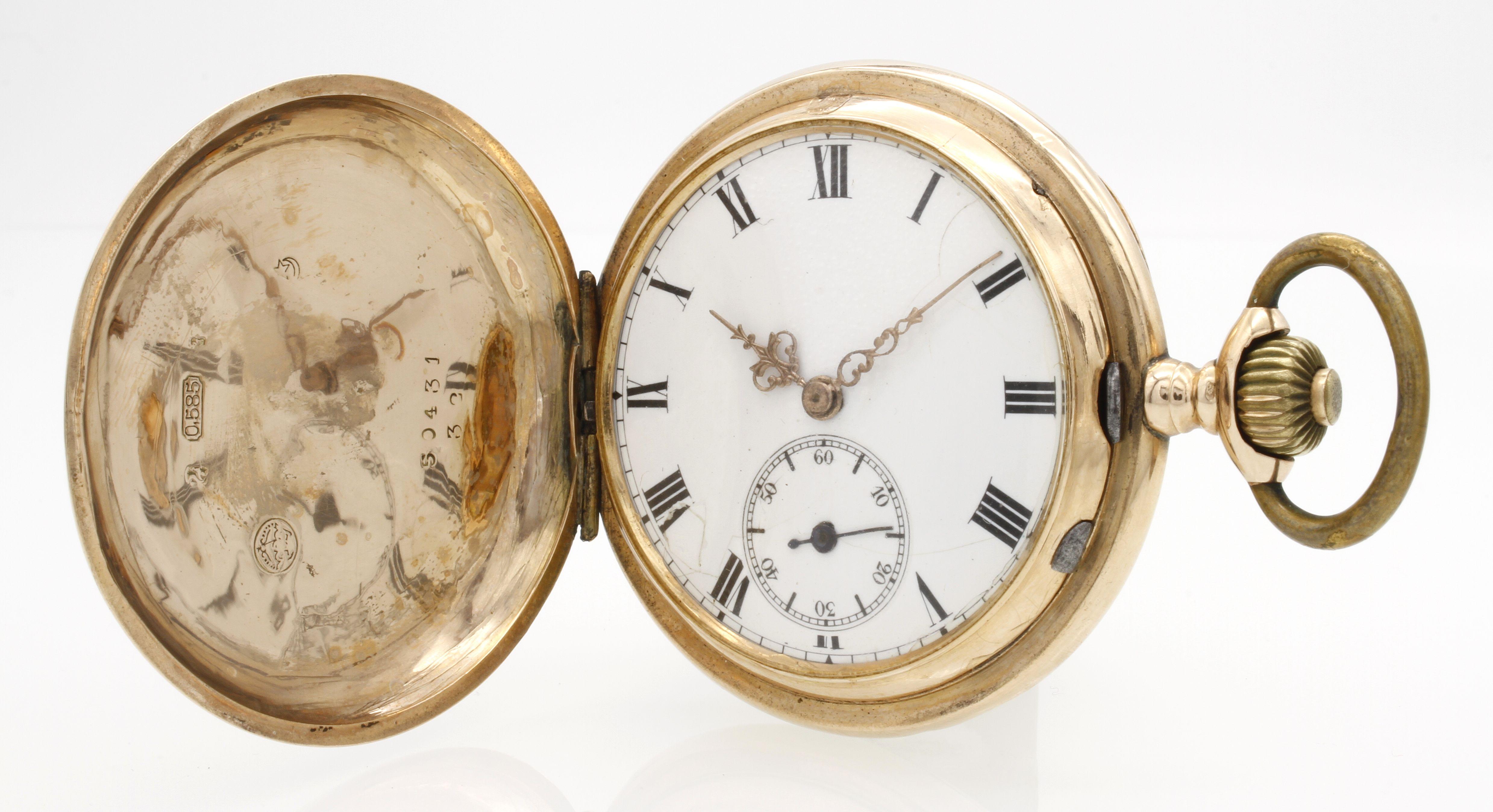 Goldene Phenix Watch Co. SA Savonnette / Taschenuhr, um 1910