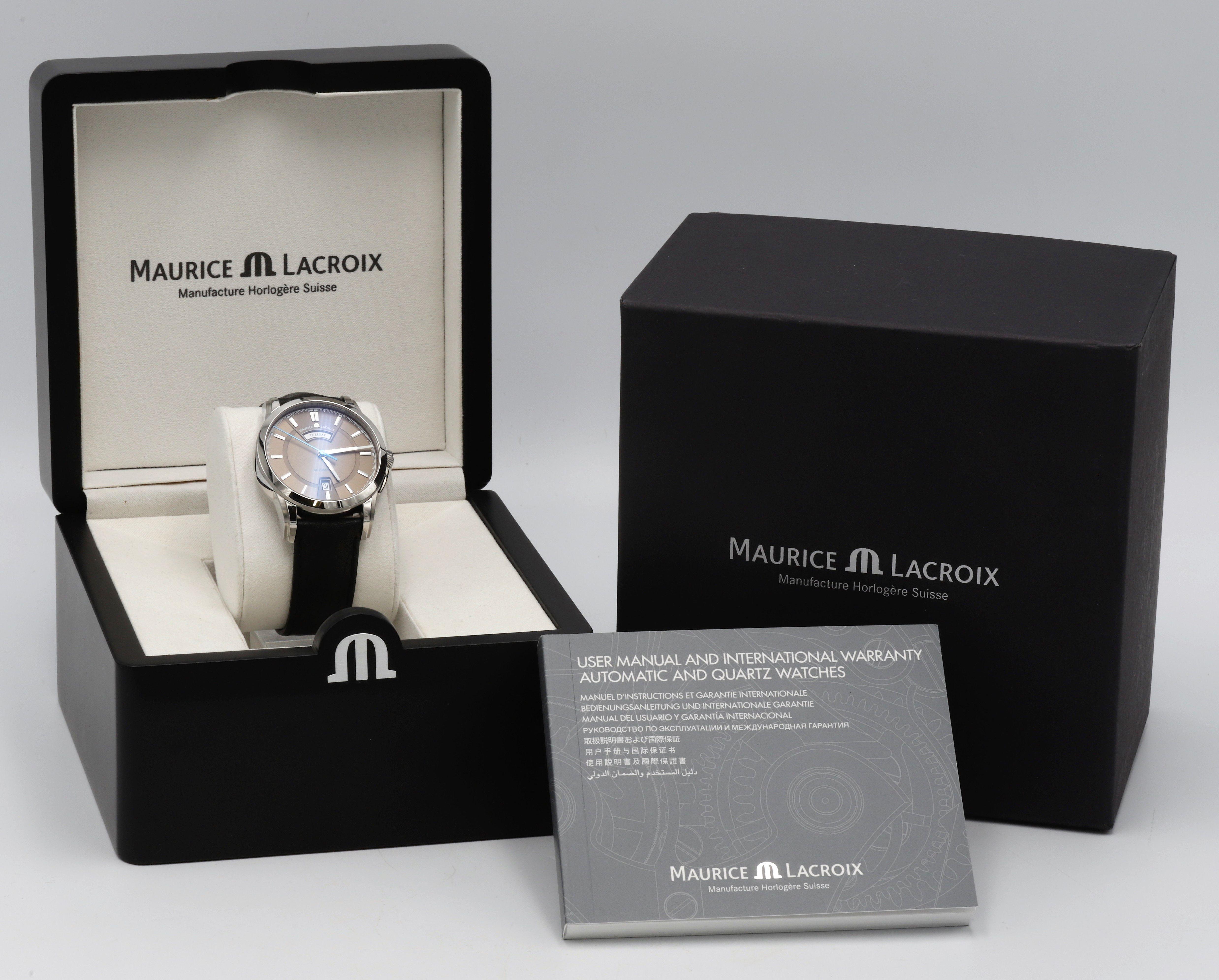 Maurice Lacroix Pontos Armbanduhr mit Papieren und Etui